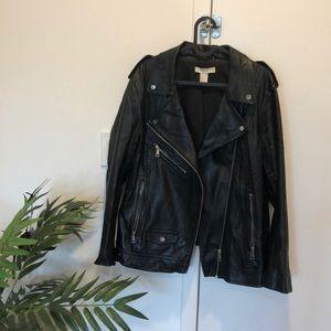 HM Biker Moro Faux Leather Jacket sz 8